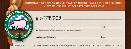 Forest Pork Store Gift Certificate
